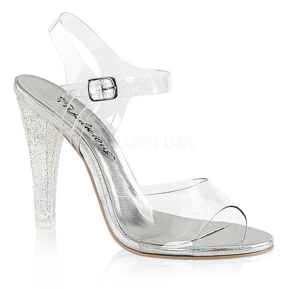 a87a039892d Glitter High Heel Peep Toe Shoes Lucite Clear